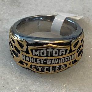 Stainless Steel Harley Davidson Unisex Ring